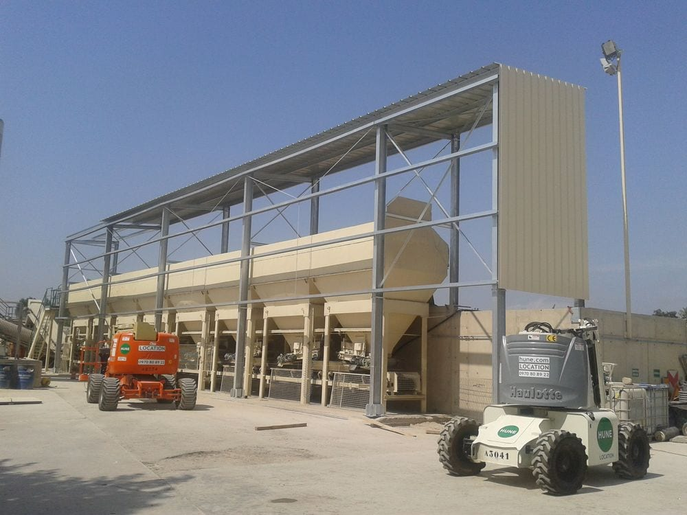 Construction métallique, abri