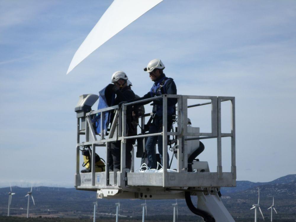 Maintenance éolienne sur nacelle