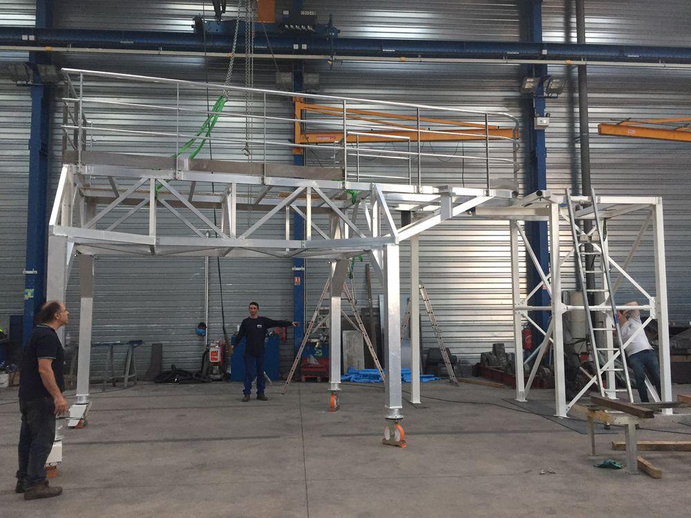 Passerelle mobile aluminium