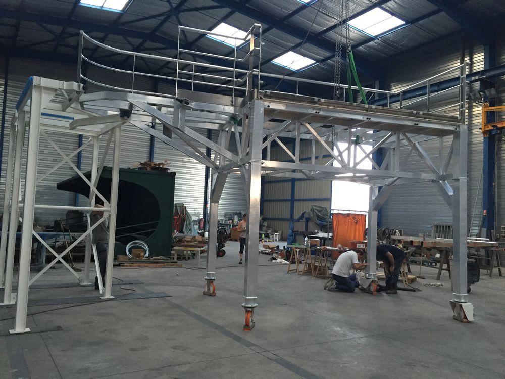Passerelle aluminium, préparation